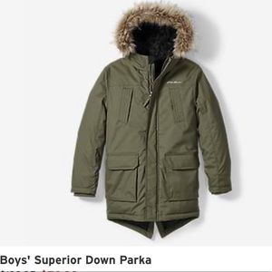 Boys superior down parka